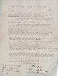Miscellaneous:Ephemera, [Ernest Hemingway]. Typed Letter Signed by Ernest Hemingway to HisBrother Leicester, Expressing His Concern Over Leicester's ...