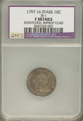 Early Dimes, 1797 10C 16 Stars--Scratched, Improperly Cleaned--NCS. FineDetails....