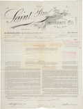 Autographs:Others, 1893 Albert Spalding Signed Insurance Documents Lot of 3....