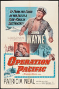 """Movie Posters:War, Operation Pacific (Warner Brothers, 1951). One Sheet (27"""" X 41"""").War.. ..."""