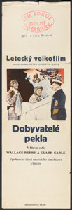 "Movie Posters:Adventure, Hell Divers (MGM, 1932). Czech Poster (12.25"" X 37""). Adventure....."
