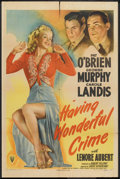 "Movie Posters:Crime, Having Wonderful Crime (RKO, 1944). One Sheet (27"" X 41""). Crime....."