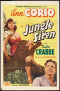 "Movie Posters:Adventure, Jungle Siren (PRC, 1942). One Sheet (27"" X 41""). Adventure.. ..."