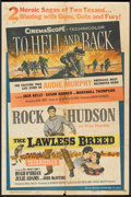 "Movie Posters:War, To Hell and Back/The Lawless Breed Combo (Universal, R-1960). OneSheet (27"" X 41""). War.. ..."