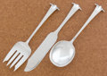 Silver Flatware, American:Other , A SET OF THREE AMERICAN SILVER SERVING PIECES. Porter Blanchard,Pacoima, California, circa 1920. Marks: PORTERBLANCHARD, ...(Total: 3 Items)