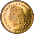 Proof Four Dollar Gold Pieces, 1879 $4 Flowing Hair, Judd-1635, Pollock-1832, 1833, R.3, 6, PR63PCGS....