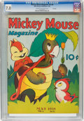 Golden Age (1938-1955):Cartoon Character, Mickey Mouse Magazine V3#8 File Copy (K. K. Publications, Inc.,1938) CGC FN/VF 7.0 Cream to off-white pages....