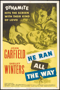 "He Ran All the Way (United Artists, 1951). One Sheet (27"" X 41""). Film Noir"