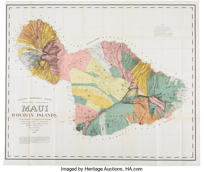 Map of Maui]. Hawaiian Government Survey. W. D. | Lot #37687 ... Map Of Nches Government on