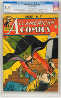 Golden Age (1938-1955):Superhero, All-American Comics #17 (DC, 1940) CGC VF+ 8.5 Off-white to white pages....