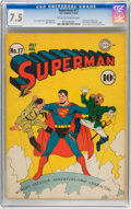 Golden Age (1938-1955):Superhero, Superman #17 (DC, 1942) CGC VF- 7.5 Off-white to white pages....