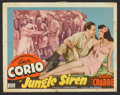 "Movie Posters:Adventure, Jungle Siren (PRC, 1942). Lobby Card Set of 8 (11"" X 14"").Adventure.. ... (Total: 8 Items)"