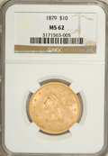 Liberty Eagles: , 1879 $10 MS62 NGC. NGC Census: (92/44). PCGS Population (57/31).Mintage: 384,770. Numismedia Wsl. Price for NGC/PCGS coin ...