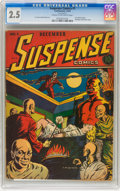Golden Age (1938-1955):Horror, Suspense Comics #1 (Continental Magazines, 1943) CGC GD+ 2.5 Creamto off-white pages....