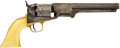 Military & Patriotic:Civil War, Ivory-gripped Colt M1851 .36 Caliber Percussion Navy Revolver, #167488 Matching. ...