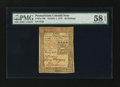 Colonial Notes:Pennsylvania, Pennsylvania October 1, 1773 20s PMG Choice About Unc 58 EPQ....