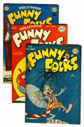 "Golden Age (1938-1955):Funny Animal, Funny Folks #6, 16, and 18 Davis Crippen (""D"" Copy) pedigree Group(DC, 1947-48).... (Total: 3 Comic Books)"