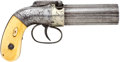Military & Patriotic:Pre-Civil War, Presentation-grade Allen & Thurber .31 Caliber Percussion Pepperbox....