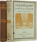 Books:First Editions, Willa Cather. Two First Editions, including: My Antonia.With illustrations by W.T. Benda. Boston and New York: ... (Total:2 Items)