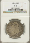 Bust Half Dollars: , 1810 50C G4 NGC. NGC Census: (1/445). PCGS Population (1/500).Mintage: 1,276,276. Numismedia Wsl. Price for NGC/PCGS coin ...