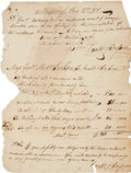 "Autographs:U.S. Presidents, [Andrew Jackson] Invoice for the Medical Care of His Slaves, including three newborn deliveries. One page, 7.5"" x 10"", J..."