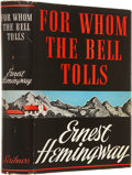 Books:First Editions, Ernest Hemingway. For Whom the Bell Tolls. New York: CharlesScribner's Sons, 1940.. First edition with Scribn...