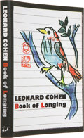 Books:Signed Editions, Leonard Cohen. Book of Longing. [Toronto]: McClelland &Stewart Ltd., [2006].. First edition. Signed by Cohe...