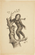 Antiques:Posters & Prints, English School. Two Simian Prints. Two lithographs, onehand-colored, by unknown artists. Both in very good condition withm... (Total: 2 Items)
