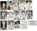 Autographs:Post Cards, Baseball Hall Of Famers And Stars Signed Postcards Lot Of 15....