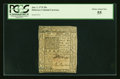 Colonial Notes:Delaware, Delaware January 1, 1776 20s PCGS Choice About New 55....