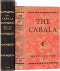 Books:Fiction, Thornton Niven Wilder. The Cabala. New York: Albert andCharles Boni, 1926.. First edition. Gift inscription by th...