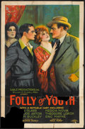 "Movie Posters:Crime, Folly of Youth (Usla, 1925). One Sheet (27"" X 41""). Crime.. ..."