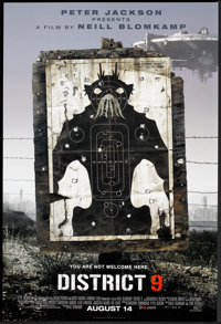 "District 9 (Tri-Star, 2009). One Sheet (26.75"" X 40"") Advance. Science Fiction"
