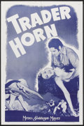 """Movie Posters:Adventure, Trader Horn (MGM, R-1940s). One Sheet (27"""" X 41""""). Adventure.. ..."""