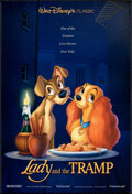 "Movie Posters:Animated, Lady and the Tramp (Buena Vista, R-1996). One Sheet (27"" X 40"") DS. Animated.. ..."