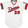 Baseball Collectibles:Uniforms, 1974 Dan Monzon Minnesota Twins Game Worn Jersey...