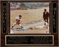 Autographs:Photos, Mickey Mantle and Brooks Robinson Signed Photograph Plaque. ...