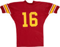 Football Collectibles:Uniforms, Frank Gifford Signed USC Replica Jersey. ...