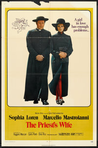 """The Priest's Wife (Warner Brothers, 1971). One Sheet (27"""" X 41""""). Comedy"""