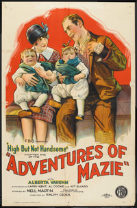 """High, But Not Handsome (FBO, 1926). One Sheet (27"""" X 41"""") Style B. """"Adventures of Mazie"""" Short Subje..."""