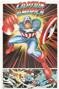 Memorabilia:Poster, Ron Kriss Captain America Poster (Thought Factory, 1977).....