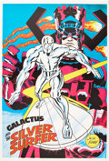 Memorabilia:Poster, Jack Kirby Galactus and the Silver Surfer Poster (Marvel,undated)....