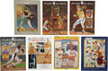 Autographs:Others, Baseball Hall of Fame Signed Programs and Yearbooks Lot of 7. ...