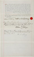 Autographs:Others, 1898 Albert G. Spalding Signed Canceled Bond. ...