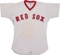 Baseball Collectibles:Uniforms, 1975 Boston Red Sox Game Worn Jersey. ...