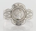 Silver Holloware, American:Napkin Rings, AN AMERICAN COIN SILVER NAPKIN RING. Maker unknown, circa 1880.Unmarked. 1-5/8 x 2-1/4 x 1-1/8 inches (4.1 x 5.7 x 2.9 cm)...
