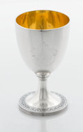 Silver Holloware, British:Holloware, A GEORGE III SILVER AND SILVER GILT GOBLET. Henry Chawner, London,England, 1809-1810. Marks: (lion passant), (leopard's he...
