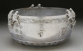 Bronze:Contemporary, A CHINESE SILVERED BRONZE JARDINIÈRE. 21-1/2 inches (54.6 cm) diameter. ...