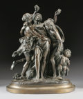 Fine Art - Sculpture, European:Antique (Pre 1900), After GUILLAUME DÉNIÈRE (French). The Bacchantes, Late 19thCentury. Bronze with patina. 25 inches (63.5 cm) high. Signe...(Total: 3 Items)