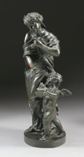 Fine Art - Sculpture, European:Antique (Pre 1900), A FRENCH BRONZE WOMAN AND CHILD. After a model by Claude MichelClodion (French, 1738-1814), 19th Century. Bronze with patin...